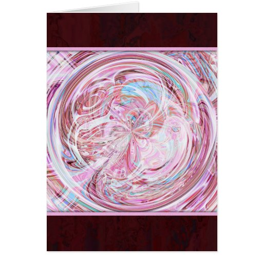 Tarjeta de las ilustraciones del caramelo de algod