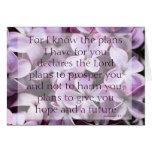 Tarjeta de las lilas del 29:11 de Jeremiah