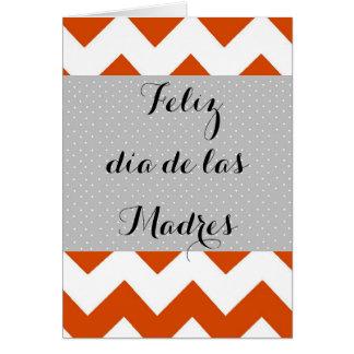 Tarjeta de las Madres del día de Feliz