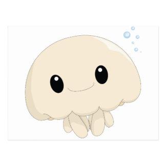 Tarjeta de las medusas de Chibi Tarjeta Postal