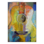 Tarjeta de las melodías de la guitarra