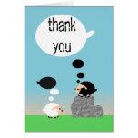 tarjeta de las ovejas