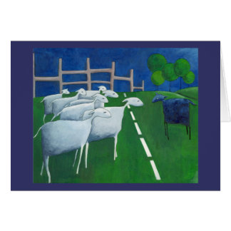 Tarjeta de las ovejas negras