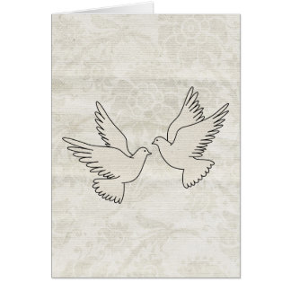 Tarjeta de las palomas de la enhorabuena dos del b