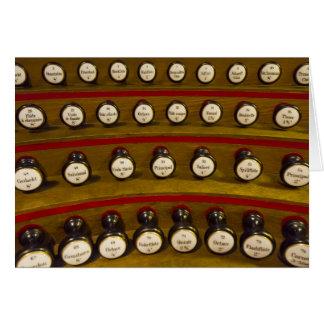 Tarjeta de las paradas de órgano - espacio en