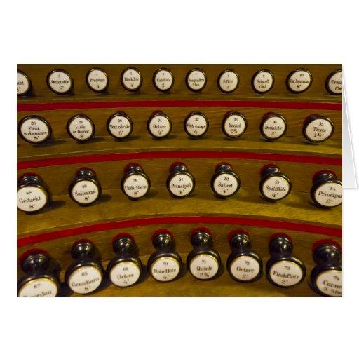 Tarjeta de las paradas de órgano - espacio en blan