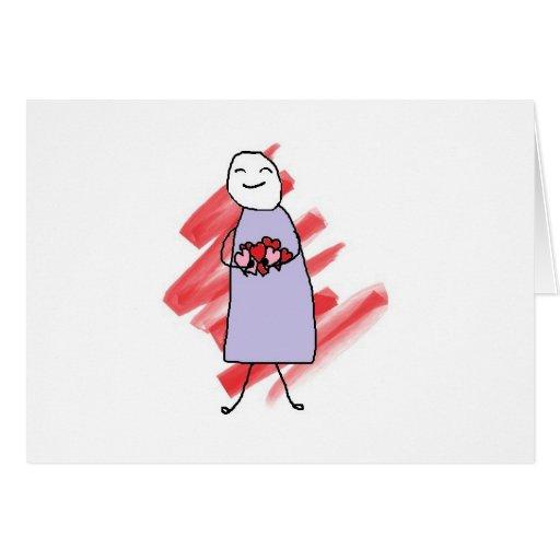 Tarjeta de las tarjetas del día de San Valentín de