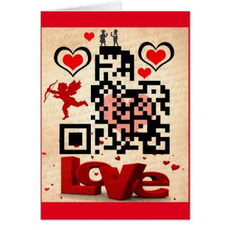Tarjeta de las tarjetas del día de San Valentín QR