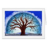 """tarjeta de las vacaciones de invierno, """"árbol espi"""