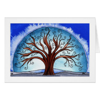 tarjeta de las vacaciones de invierno árbol espi
