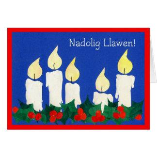 Tarjeta de las velas del navidad Galés