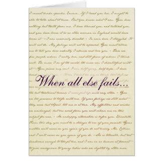 Tarjeta de Lizzie Bennet del orgullo y del perjuic