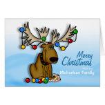 Tarjeta de los alces del navidad tarjeta de felicitación