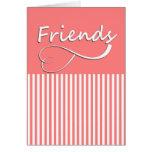 Tarjeta de los amigos