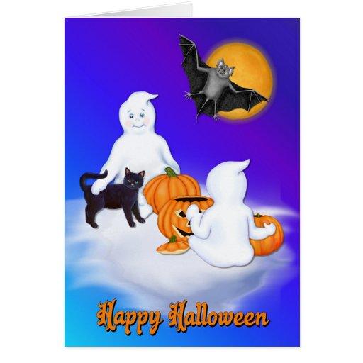 Tarjeta de los amigos de Halloween