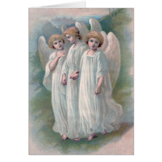 Tarjeta de los ángeles de Pascua del vintage