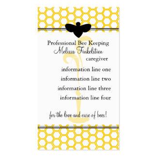 Tarjeta de los apicultores plantilla de tarjeta de negocio