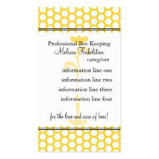 Tarjeta de los apicultores tarjetas personales