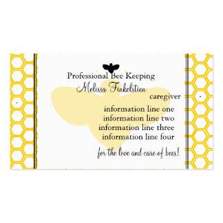 Tarjeta de los apicultores tarjeta de visita