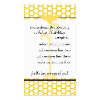 Tarjeta de los apicultores tarjeta personal