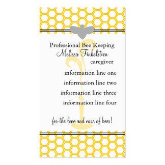 Tarjeta de los apicultores tarjetas de visita