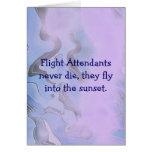 tarjeta de los asistentes de vuelo