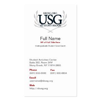 Tarjeta de los asuntos oficiales de USG Tarjetas De Visita