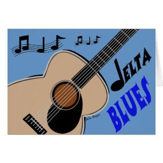 Tarjeta de los azules del delta