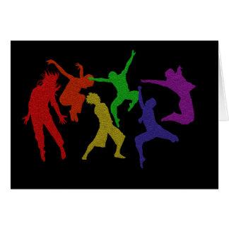 Tarjeta de los bailarines