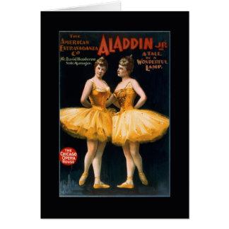 Tarjeta de los bailarines de Aladdin del ballet de