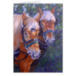 Tarjeta de los caballos de proyecto