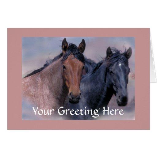 Tarjeta de los caballos salvajes