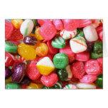 Tarjeta de los caramelos duros