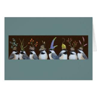 tarjeta de los chickadees del fiesta