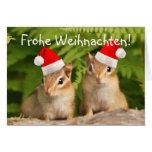 Tarjeta de los Chipmunks del bebé de Frohe Weihnac