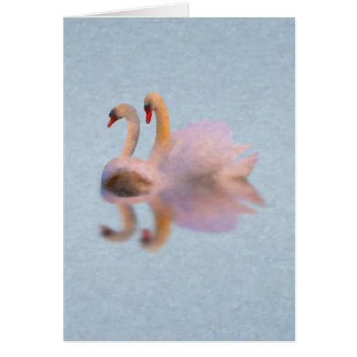 Tarjeta de los cisnes de Unvalentine