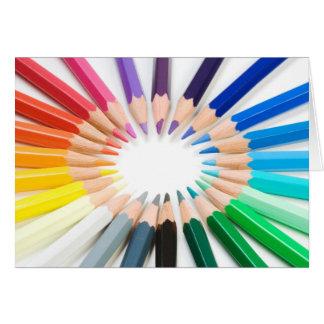 Tarjeta de los colores verdaderos