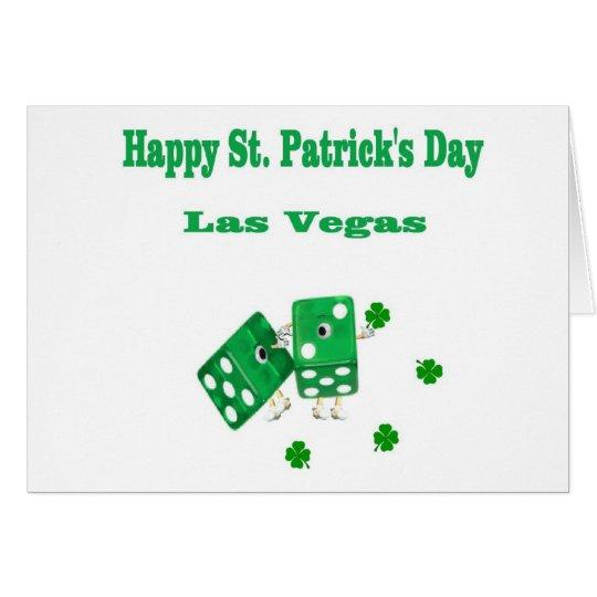 Tarjeta de los dados del verde de Las Vegas del dí