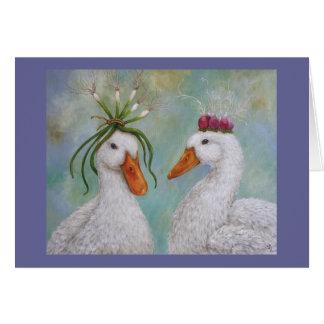 Tarjeta de los derechos del pato