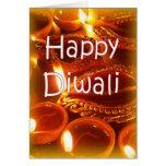 Tarjeta de los diyas de Diwali
