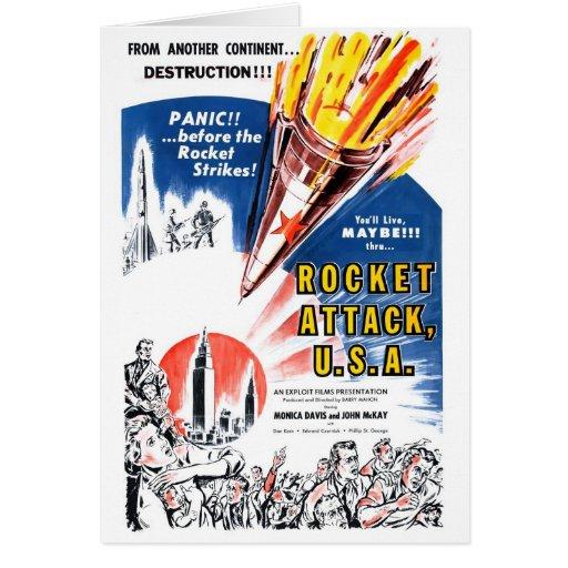 """""""Tarjeta de los E.E.U.U. del ataque de Rocket"""" Tarjeta De Felicitación"""
