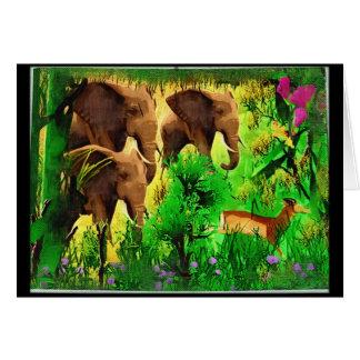 Tarjeta de los elefantes