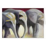 Tarjeta de los elefantes del circo