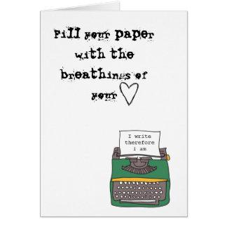 tarjeta de los escritores