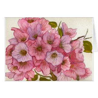 Tarjeta de los flores