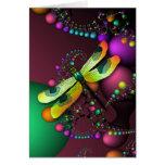 Tarjeta de los fractales de la libélula (carnaval)