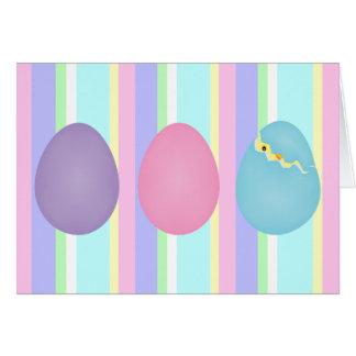 Tarjeta de los huevos de Pascua