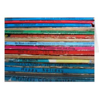 Tarjeta de los libros de niños
