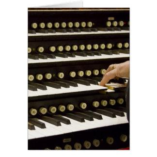 Tarjeta de los manuales del órgano