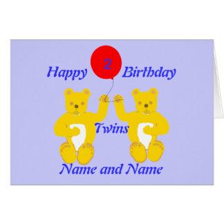 Tarjeta de los muchachos del cumpleaños de los